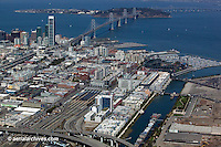 Aerial photograph Mission Bay CalTrain Giants Ballpark Islais Creek San Francisco California