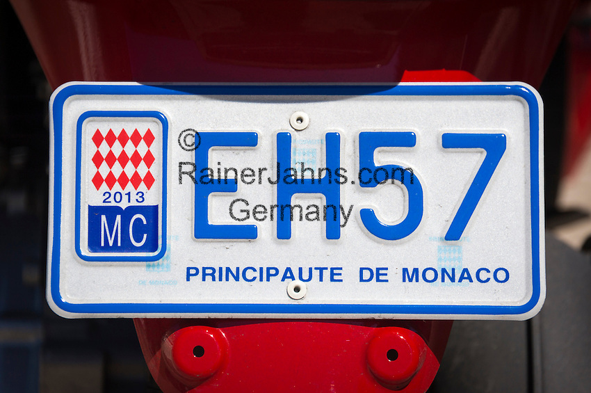 Principality of Monaco, on the French Riviera (Côte d'Azur): licence plate number | Fuerstentum Monaco, an der Côte d'Azur: Kfz-Kennzeichen