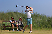TJ Ford (Co. Sligo) on the 3rd tee during Round 4 of the East of Ireland Amateur Open Championship 2018 at Co. Louth Golf Club, Baltray, Co. Louth on Monday 4th June 2018.<br /> Picture:  Thos Caffrey / Golffile<br /> <br /> All photo usage must carry mandatory copyright credit (&copy; Golffile | Thos Caffrey)