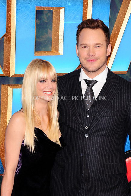 www.acepixs.com<br /> <br /> April 24 2017, New York City<br /> <br /> Anna Faris (L) and Chris Pratt arriving at the European Gala screening of 'Guardians of the Galaxy Vol. 2' at the Hammersmith Apollo on April 24, 2017 in London<br /> <br /> By Line: Famous/ACE Pictures<br /> <br /> <br /> ACE Pictures Inc<br /> Tel: 6467670430<br /> Email: info@acepixs.com<br /> www.acepixs.com
