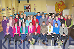 The ladies in the Killorglin Woman 2000 celebrate the groups 10th anniversary in Killorglin on Tuesday front row l-r: Ellen Sharples, Mary Sweeney, Tess Moran, Christine Griffin, Bridie Murphy, Helen Horgan, Barbara Brennan, Anita Galvin, Mary Fenton. Back row: Bridie King, Nuala Spillane, Ann Foley, Marie Griffin, Rosaleen O'Connor, Connie Sheehy, Teresa Macchia, Margaret Gill, Kathleen O'Malley, Catriona O'Malley, Helen O'Connor, Eileen O'Sullivan, Margaret O'Sullivan, Ann Fenton, Maureen Crowe, Hannah Clifford, Kathleen O'Connor and Marie Melia