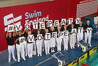 Picture by Allan McKenzie/SWpix.com - 16/12/2017 - Swimming - Swim England Nationals - Swim England Winter Championships - Ponds Forge International Sports Centre, Sheffield, England - Swim England's #VotePeaty.