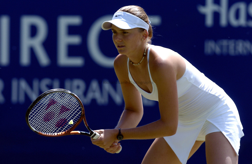 Photo: Richard Lane..Hastings Direct International Championship at Eastbourne. 16/06/2004..Daniela Hantuchova of Slovakia.