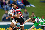 Rob Foreman fails to tackle Fritz Lee. ITM Cup rugby game between Counties Manukau and Manawatu played at Bayer Growers Stadium on Saturday August 21st 2010..Counties Manukau won 35 - 14 after leading 14 - 7 at halftime.