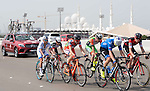 The breakaway group in action during Stage 2 the Nation Towers Stage of the 2017 Abu Dhabi Tour, running 153km around the city of Abu Dhabi, Abu Dhabi. 24th February 2017<br /> Picture: ANSA/Claudio Peri | Newsfile<br /> <br /> <br /> All photos usage must carry mandatory copyright credit (&copy; Newsfile | ANSA)