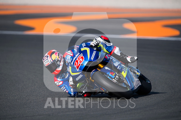 VALENCIA, SPAIN - NOVEMBER 11: Maverick Viñales during Valencia MotoGP 2016 at Ricardo Tormo Circuit on November 11, 2016 in Valencia, Spain