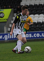 Lewis McLear in the St Mirren v Celtic Scottish Professional Football League Under 20 match played at St Mirren Park, Paisley on 30.4.14.