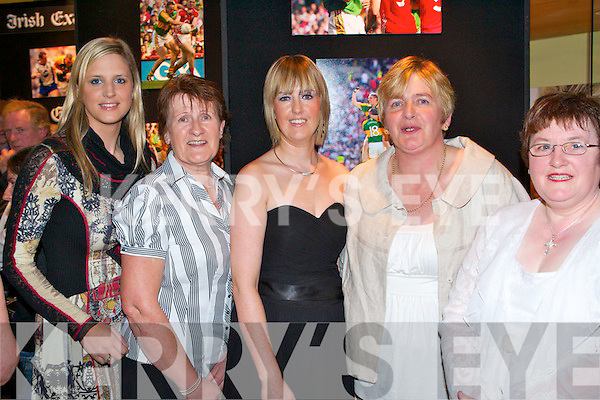 GIRLS NIGHT: Enjoying a girl's night out at the Kerry Teams fundraiser banquet at the Brandon Hotel on Saturday l-r: Eve Dempsey, Kit and Leanne Ryan, siobhan O'Mahony and Cathrine Brosnan..   Copyright Kerry's Eye 2008