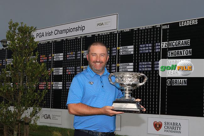 Damien McGrane (IRL) wins the 106th Irish PGA Championship at Moyvalley Hotel &amp; Golf Resort, Moyvalley, Co. Kildare.  25/09/2016.<br /> Picture: Golffile | Thos Caffrey<br /> <br /> <br /> All photo usage must carry mandatory copyright credit     (&copy; Golffile | Thos Caffrey)