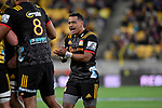 Chiefs' Te Toiroa Tahurionangi in action during the Super Rugby - Hurricanes v Chiefs at Westpac Stadium, Wellington, New Zealand on Friday 13 April 2018.<br /> Photo by Masanori Udagawa. <br /> www.photowellington.photoshelter.com