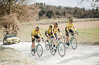 Team Jumbo-Visma race reconnaissance 1 day prior to the 13th Strade Bianche 2019 (1.UWT)<br /> One day race from Siena to Siena (184km)<br /> <br /> ©kramon