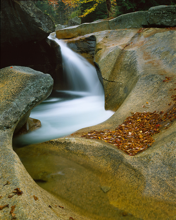 Waterfall at the Basin; Franconia Notch State Park, NH