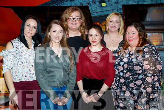 Catherine Kozien, Karla Whyte, Deirdre Lenihan, Meryem Sheehy, Kat Flynn and Stephanie Griffin, enjoying Women's Christmas at Ristorante Uno, Tralee, on Friday night last.