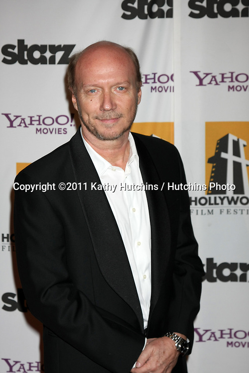 LOS ANGELES - OCT 24:  Paul Haggis arriving at the 15th Annual Hollywood Film Awards Gala at Beverly Hilton Hotel on October 24, 2011 in Beverly Hllls, CA