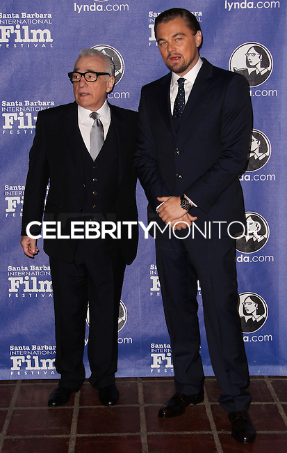 SANTA BARBARA, CA - FEBRUARY 06: Martin Scorsese, Leonardo DiCaprio at the 29th Santa Barbara International Film Festival - Honoring Martin Scorsese And Leonardo DiCaprio With The Cinema Vanguard Award held at Arlington Theatre on February 6, 2014 in Santa Barbara, California. (Photo by Xavier Collin/Celebrity Monitor)