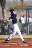 Kevin Bergstrom (53), from Fremont, California, while playing for the Padres during the Under Armour Baseball Factory Recruiting Classic at Red Mountain Baseball Complex on December 29, 2017 in Mesa, Arizona. (Zachary Lucy/Four Seam Images)