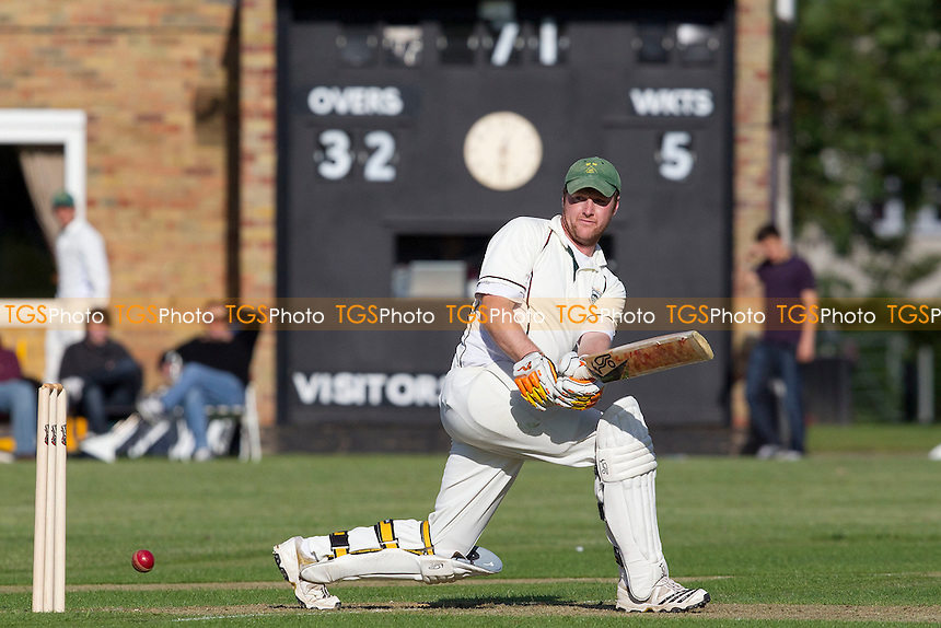 Dan Hagan (Chelmsford CC) collects runs behind square on his way to an undefeated 71 - Chelmsford CC vs Wanstead CC - Essex Cricket League at Chelmer Park - 09/06/12 - MANDATORY CREDIT: Ray Lawrence/TGSPHOTO - Self billing applies where appropriate - 0845 094 6026 - contact@tgsphoto.co.uk - NO UNPAID USE.