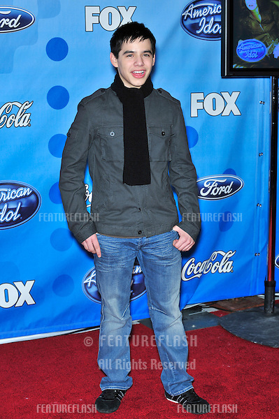 David Archuleta at party for the top 12 finalists of 2008 American Idol at the Pacific Design Centre, Los Angeles..March 6, 2008  Los Angeles, CA.Picture: Paul Smith / Featureflash