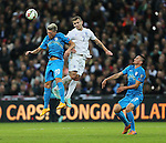 England's Jack Wilshere tussles with Slovenia's Kevin Kampl<br /> <br /> - International European Qualifier - England vs Slovenia- Wembley Stadium - London - England - 15th November 2014  - Picture David Klein/Sportimage