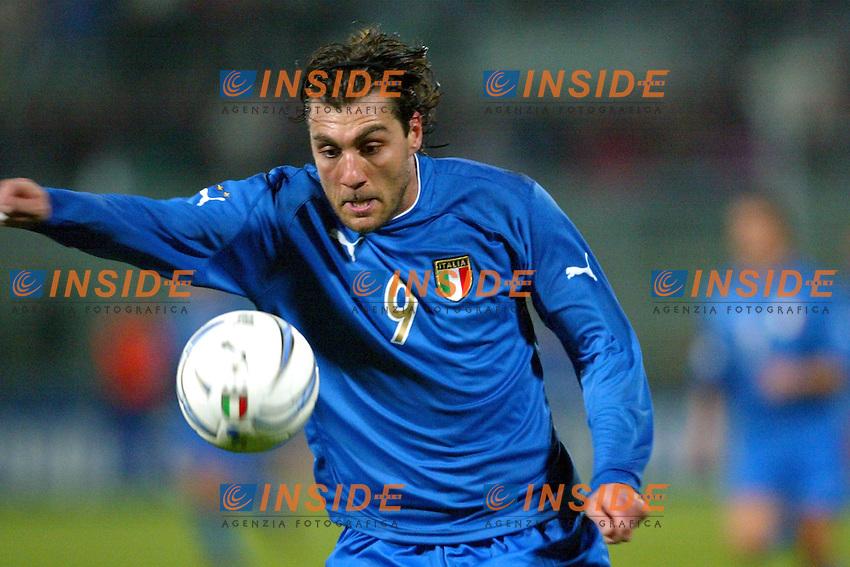 Palermo 18/2/2004 Amichevole - Friendly Match <br /> Italy Czech Republic - Italia Repubblica Ceca 2-2 <br /> Christian Vieri (Italy)<br /> Photo Andrea Staccioli Insidefoto