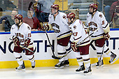 Joe Whitney (BC - 15), Philip Samuelsson, Boston College, Eagles,19910726,, Cam Atkinson (BC - 13), Edwin Shea (BC - 8) - The Boston College Eagles defeated the Yale University Bulldogs 9-7 in the Northeast Regional final on Sunday, March 28, 2010, at the DCU Center in Worcester, Massachusetts.