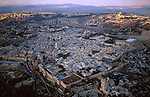 Israel, an aerial view of Jerusalem Old City