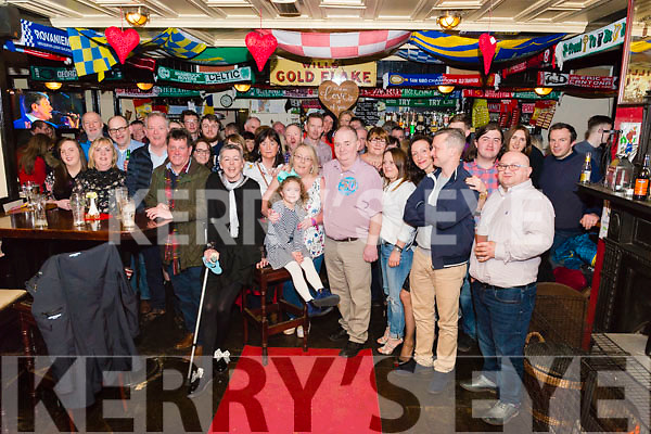Derry Brosnan from Beaufort celebrated his 50th birthday surrounded by friends and family in the Inn Between Bar, Beaufort last Saturday night.