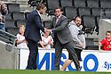 Stevenage manager Graham Westley shakes hands with MK Dons manager Karl Robinson<br />  - MK Dons v Stevenage - Sky Bet League One - Stadium MK, Milton Keynes - 28th September 2013. <br /> © Kevin Coleman 2013