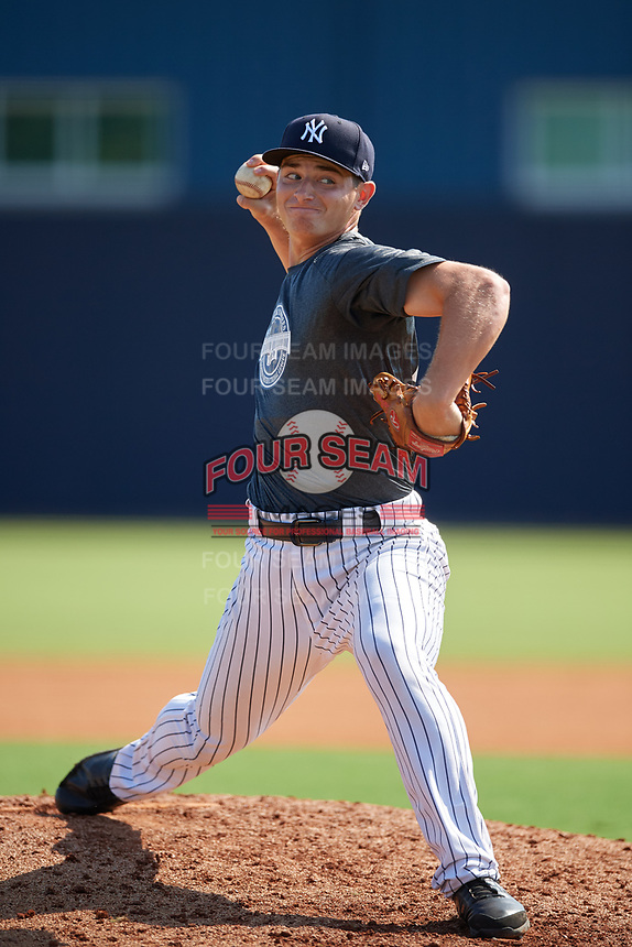 New York Yankees pitcher Sean Boyle (22) during an Instructional League intrasquad game on September 27, 2019 at New York Yankees Minor League Complex in Tampa, Florida.  (Mike Janes/Four Seam Images)