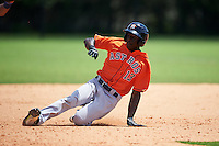 Houston Astros Daz Cameron (13) during a minor league Spring Training game against the Detroit Tigers on March 30, 2016 at Tigertown in Lakeland, Florida.  (Mike Janes/Four Seam Images)
