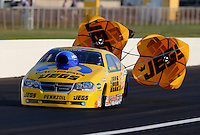 Aug. 30, 2013; Clermont, IN, USA: NHRA pro stock driver Jeg Coughlin during qualifying for the US Nationals at Lucas Oil Raceway. Mandatory Credit: Mark J. Rebilas-