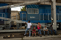 HAVANA, CUBA - JULY14: Cubans wait to see a new train at La Coubre station, from Havana to Santiago de Cuba, on July13, 2019. The first train start working for the cuban passenger to Santiago de Cuba, 516 miles. The new equipment made in China. (Photo by Eliana Aponte/VIEWpress)