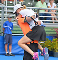 DELRAY BEACH, FL - NOVEMBER 24: Gavin Rossdale and Rennae Stubbs attend the 30TH Annual Chris Evert Pro-Celebrity Tennis Classic Day3 at the Delray Beach Tennis Center on November 24, 2019 in Delray Beach, Florida.  ( Photo by Johnny Louis / jlnphotography.com )