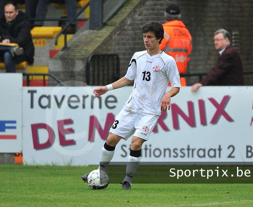 Georgia U19 - Belgium U19 : Nika Tchanturia<br /> foto DAVID CATRY / Nikonpro.be