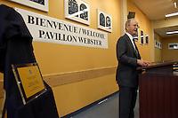 Mister Webster speak at the Webster Pavillion Inauguration<br /> photo : (c) images Distribution