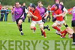 Munster's Tommy O'Donnell gets through the Aberavons defence in the British .and Irish Cup at O'Dowd park, Tralee on Saturday.