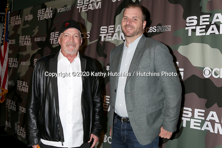 """LOS ANGELES - FEB 25:  Chuck Chulack and Spencer Hudnut at the """"Seal Team"""" Screening at the ArcLight Hollywood on February 25, 2020 in Los Angeles, CA"""