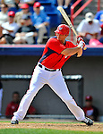 12 March 2012: Washington Nationals infielder Mark Teahen in action during a Spring Training game against the St. Louis Cardinals at Space Coast Stadium in Viera, Florida. The Nationals defeated the Cardinals 8-4 in Grapefruit League play. Mandatory Credit: Ed Wolfstein Photo