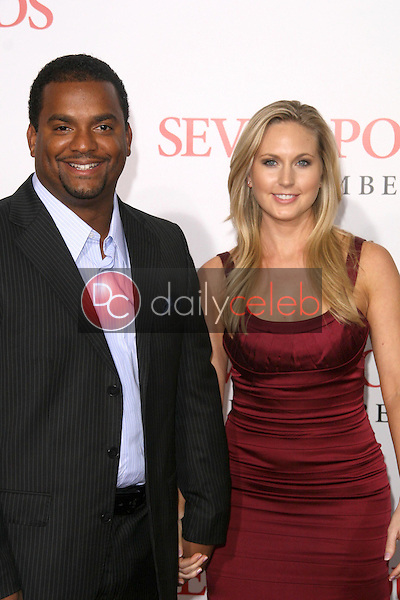 Alfonso Ribeiro and Robin Stapler <br /> at the Los Angeles Premiere of 'Seven Pounds'. Mann Village Theatre, Westwood, CA. 12-16-08<br /> Dave Edwards/DailyCeleb.com 818-249-4998