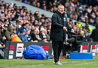 Sheffield United manager Chris Wilder shouts instructions to his team from the technical area<br /> <br /> Photographer Alex Dodd/CameraSport<br /> <br /> The EFL Sky Bet Championship - Leeds United v Sheffield United - Saturday 16th March 2019 - Elland Road - Leeds<br /> <br /> World Copyright © 2019 CameraSport. All rights reserved. 43 Linden Ave. Countesthorpe. Leicester. England. LE8 5PG - Tel: +44 (0) 116 277 4147 - admin@camerasport.com - www.camerasport.com
