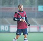 AMSTELVEEN -  Koen Bijen (HCKZ) tijdens de hoofdklasse competitiewedstrijd mannen, Amsterdam-HCKC (1-0).  COPYRIGHT KOEN SUYK