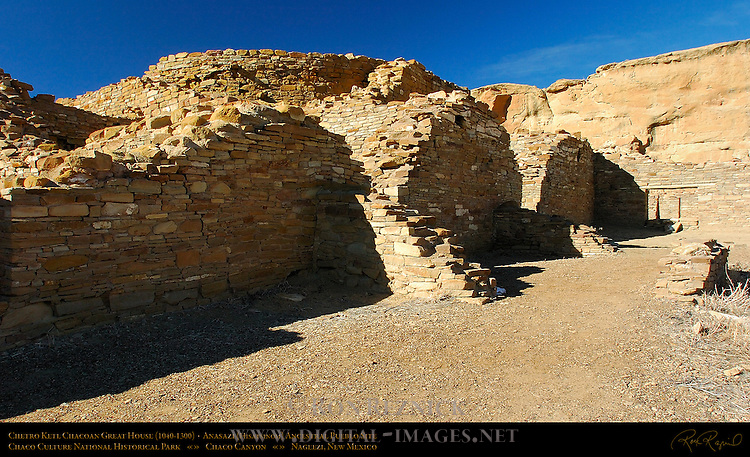 Elevated Kiva, Chetro Ketl Chacoan Great House, Anasazi Hisatsinom Ancestral Pueblo Site, Chaco Culture National Historical Park, Chaco Canyon, Nageezi, New Mexico
