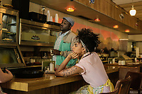 SLICE (2018)<br /> HANNIBAL BURESS, ZAZIE BEETZ<br /> *Filmstill - Editorial Use Only*<br /> CAP/FB<br /> Image supplied by Capital Pictures