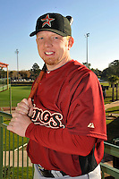 Feb 25, 2010; Kissimmee, FL, USA; The Houston Astros infielder Chris Shelton (16) during photoday at Osceola County Stadium. Mandatory Credit: Tomasso De Rosa / Four Seam Images