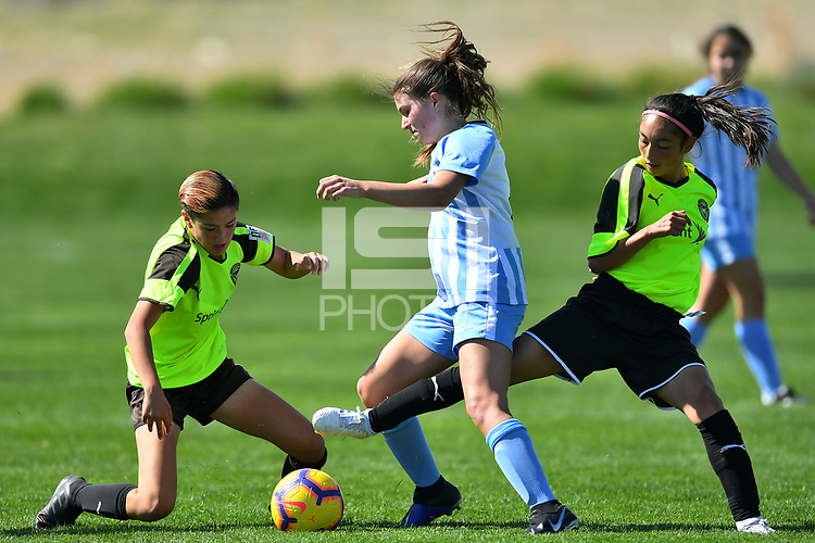 Commerce City, CO - Sunday April 28, 2019: U.S. Soccer Girl's Development Academy Spring Showcase at Dick's Sporting Goods Park.