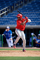 Philadelphia Phillies Jefferson Encarnacion (35) at bat during an Instructional League game against the Toronto Blue Jays on September 17, 2019 at Spectrum Field in Clearwater, Florida.  (Mike Janes/Four Seam Images)