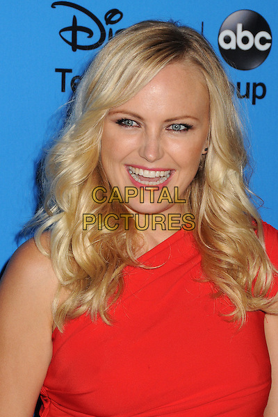 Malin Akerman<br /> Disney/ABC Summer 2013 TCA Press Tour held at the Beverly Hilton Hotel, Beverly Hills, California, USA.<br /> August 4th, 2013<br /> headshot portrait red one shoulder smiling <br /> CAP/ADM/BP<br /> &copy;Byron Purvis/AdMedia/Capital Pictures
