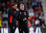 Eddie Howe manager of Bournemouth (r) during the premier league match at the Vitality Stadium, Bournemouth. Picture date 18th April 2018. Picture credit should read: David Klein/Sportimage