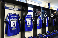 A general view in the Bath Rugby changing rooms. Gallagher Premiership match, between Bath Rugby and Wasps on May 5, 2019 at the Recreation Ground in Bath, England. Photo by: Patrick Khachfe / Onside Images