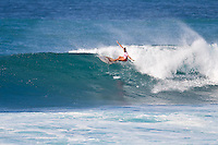 HALEIWA, HI (Nov. 28, 2009) --  Alana Blanchard (HAW) The WCT Gidget Pro at Sunset Beach was won today by Hawaiin surfer Carissa Moore (HAW). Runner up was Sally Fitzgibbons (AUS) with newly crown 2009 World Professional Surfing Champion Stephanie Gilmore (AUS) with Alana Blanchard (HAW) in fourth...Gilmore won the 2009 Title when Coco Ho (HAW) failed to advance from the semi finals. It is Gilmore's third straight world title win... The northern hemisphere winter months on the North Shore signal a concentration of surfing activity with some of the best surfers in the world taking advantage of swells originating in the stormy Northern Pacific. Notable North Shore spots include Waimea Bay, Off The Wall, Backdoor, Rocky Point, Log Cabins, Rockpiles and Sunset Beach... Ehukai Beach is more  commonly known as Pipeline and is the most notable surfing spot on the North Shore. It is considered a prime spot for competitions due to its close proximity to the beach, giving spectators, judges, and photographers a great view...The North Shore is considered to be one the surfing world's must see locations and every December hosts three competitions, which make up the Triple Crown of Surfing. The three men's competitions are the Reef Hawaiian Pro at Haleiwa, the O'Neill World Cup of Surfing at Sunset Beach, and the Billabong Pipeline Masters. The three women's competitions are the Reef Hawaiian Pro at Haleiwa, the Gidget Pro at Sunset Beach, and the Billabong Pro on the neighboring island of Maui...Photo: Joliphotos.com